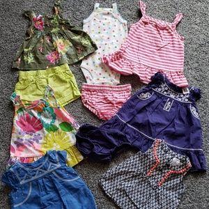 10 piece bundle, Carter's Baby Girl Summer Clothes
